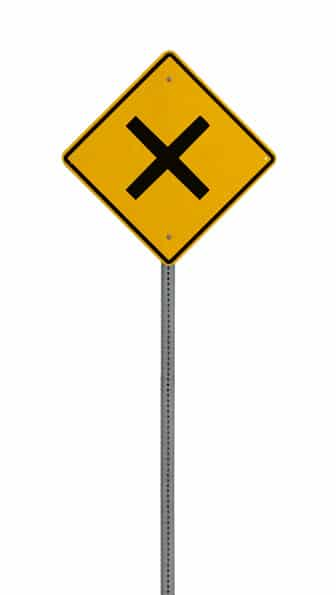yellow road warning sign - image licensed from Photodune